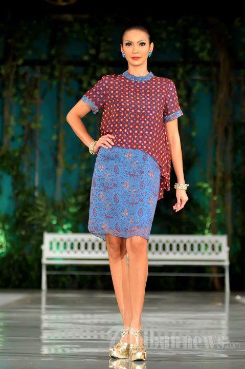 45 Model Baju Batik Keris  Wanita Modern Terbaru 2019