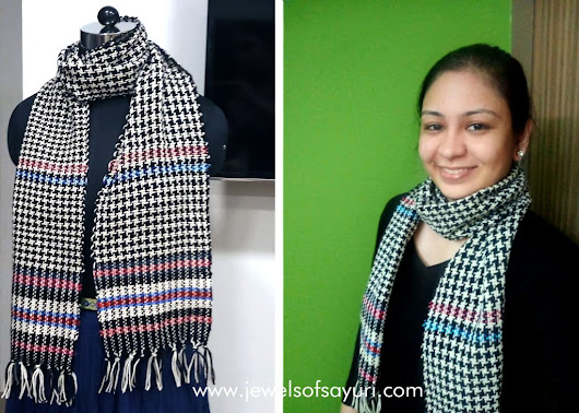 How to weave a scarf - a Handloom day special | Jewels of sayuri
