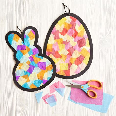 Kids Club® Tissue Paper Stained Glass Easter Icons