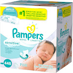 Pampers Sensitive Baby Wipes - 448 count