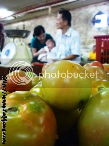 Visiting Grandpa In Morning Market