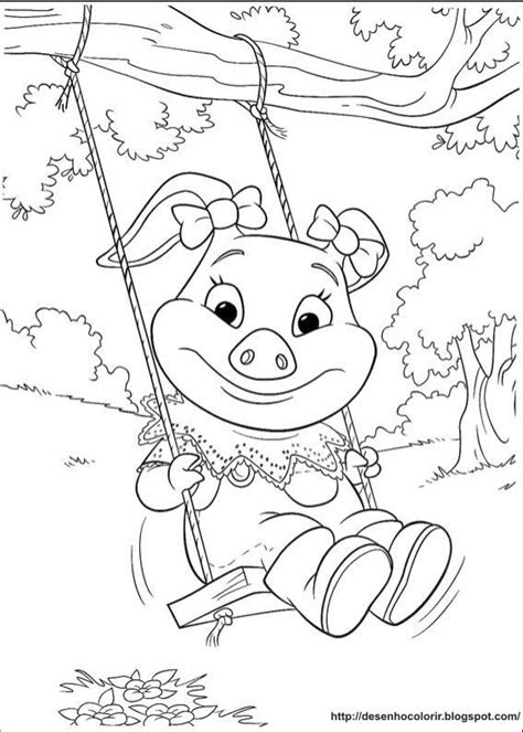desenhos  colorir  aventuras de piggley winks