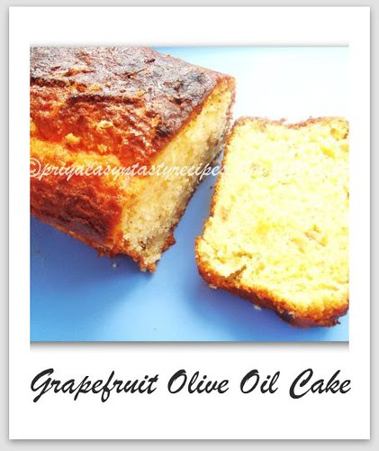Grapefruit &Olive Oil Cake