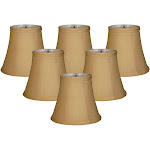 Royal Designs Gold Fabric Chandelier Lampshades (Pack of 6)