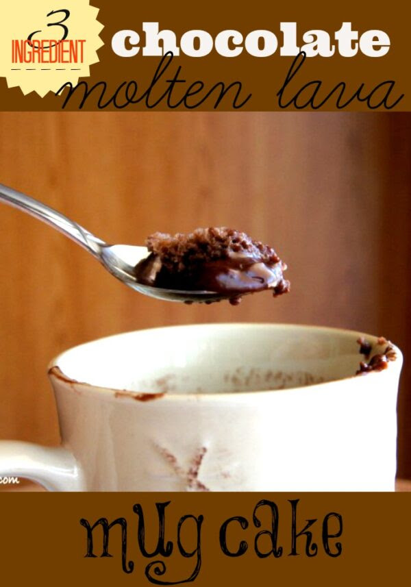 Chocolate Molten Lava Mug Cake - I Wash... You Dry