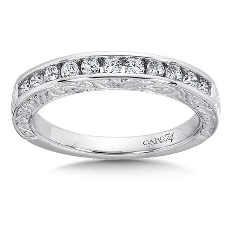 Caro74   Channel Set Diamond Anniversary Band with Hand