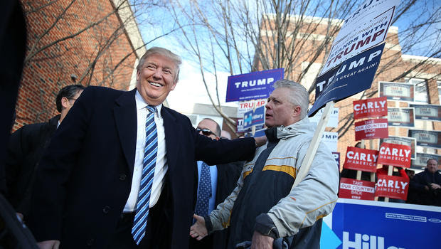 Image result for On a street in Ohio, defiant Democrats flock to Trump