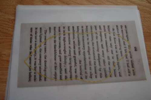 A book page