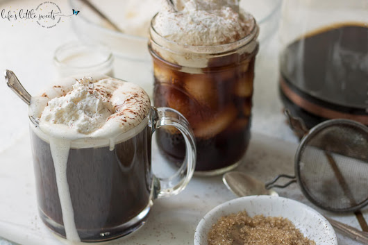 Coffee with Whipped Cream (Hot and Cold) - Coffee, Whipped Cream, Ice