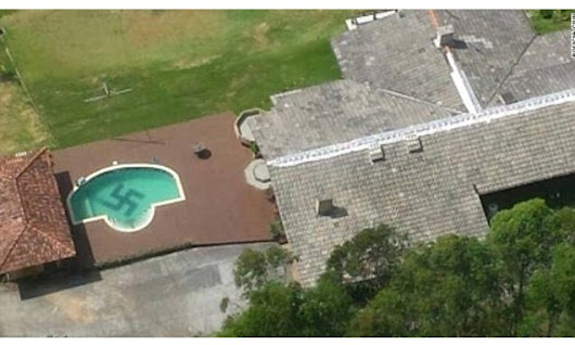 Brazilian police spots a giant SWASTIKA in swimming pool
