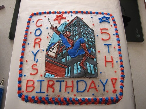 Angela's Cakes: Spiderman Cake For Cory's 5th Bday Party
