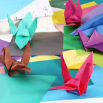 (20 * 20cm) - NUOLUX 50 Sheets Single Sided Origami Paper Square Sheet for Arts and Crafts 20 20cm