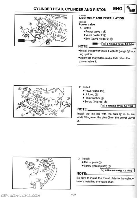 2002 Yamaha YZ250 Motorcycle Owners Service Manual : LIT