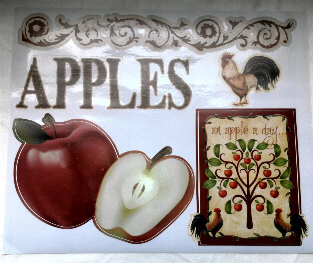 Apple Rooster Country Kitchen Vinyl Decal Sticker Interior Decor