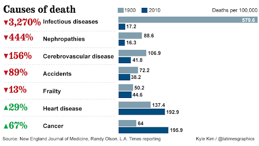 How do we die? What killed Americans in 1900 vs. 2010