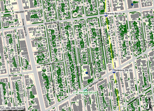 Beverly Square West: Buildings and Classified Landcover