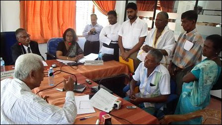Victims protest against ineffective investigations by SL presidential commission on missing persons
