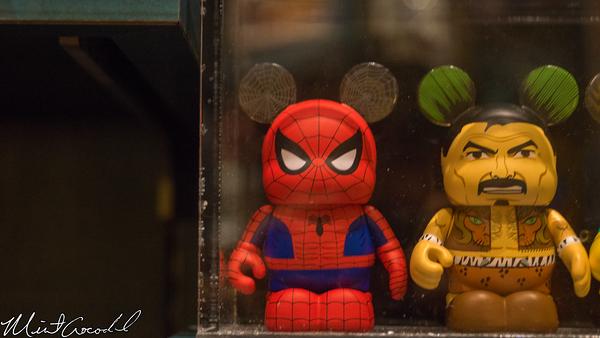 Disneyland Resort, Disney California Adventure, Buena Vista Street, Julius Kats and Sons, Spider Man, Vinylmation