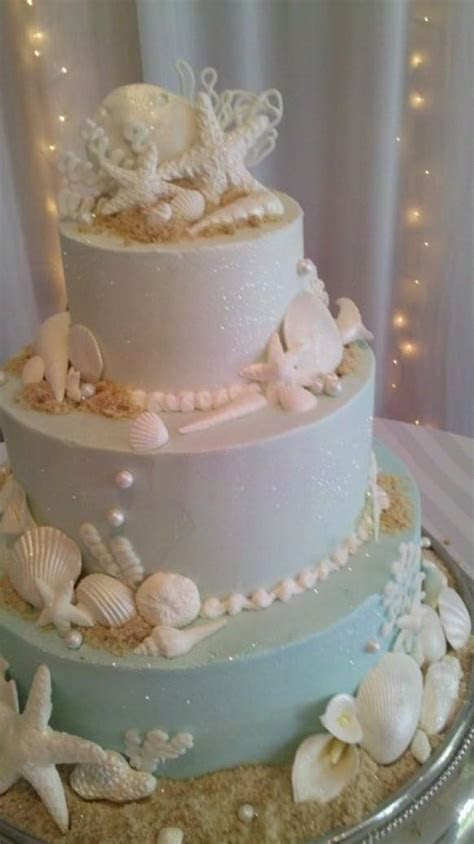 Beach Wedding Cake Decoration ? Wedding Cake With Edible