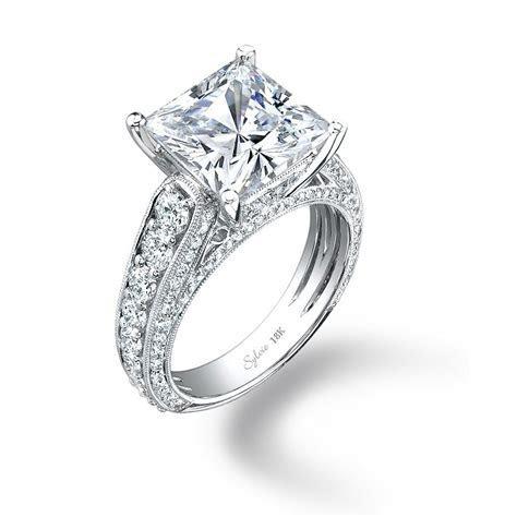 Sylvie Princess Cut Diamond Engagement Ring   SY148