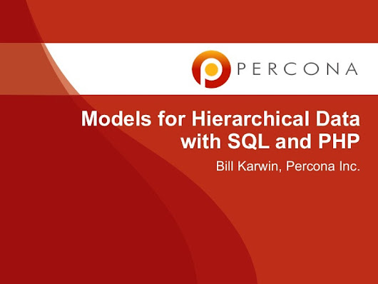 Models for hierarchical data