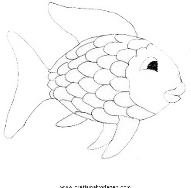 komputer ando regenbogenfisch ausmalbild