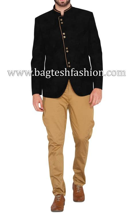 Glamour Look Jodhpuri With Khaki Breeches,Black