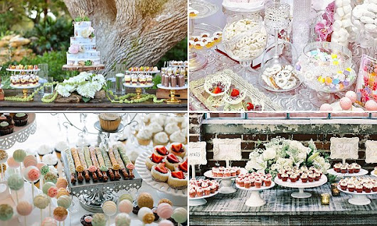 Dessert bars are all the rage at weddings - and we can see why
