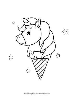 72 Coloring Pages Of Unicorns  Images
