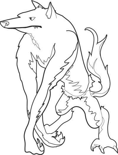 Halloween Coloring Page: Werewolf | Worksheets ...