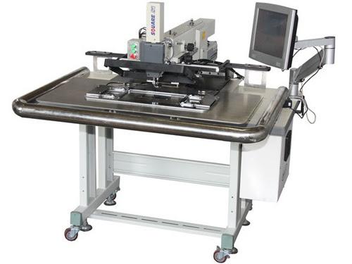ZJQ máquina de coser zigzag etiqueta automática