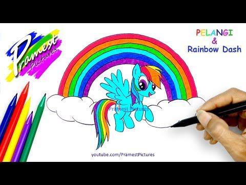 Belajar Menggambar Dan Mewarnai Gambar Pelangi Rainbow Dash My