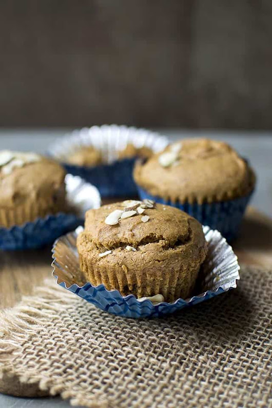 Almond Butter Chocolate Chip Muffins for #BreadBakers - Cook's Hideout