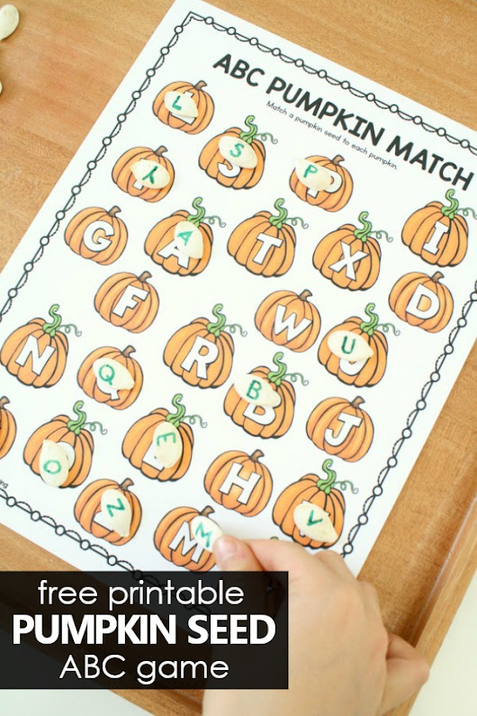 Pumpkin Letter Matching ABC Game - Fantastic Fun & Learning