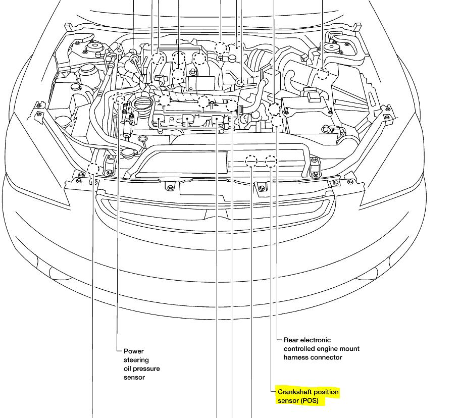 2000 Nissan Altima Crankshaft Position Sensor