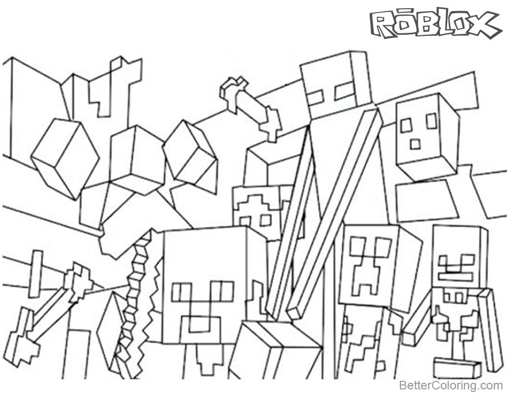 Roblox logo colouring pages
