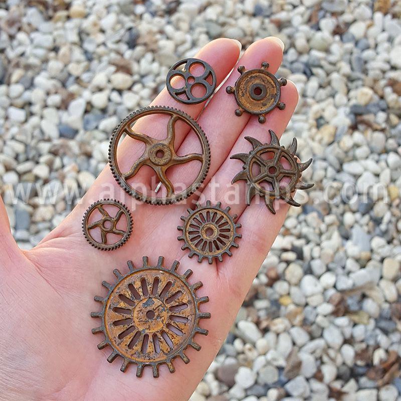 Finnabair Mechanicals Metals - Rustic Gears