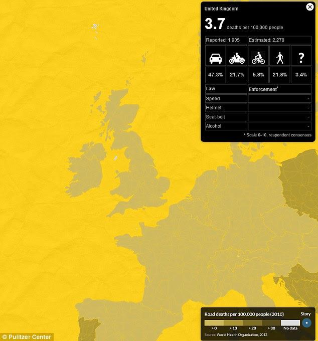 Details zur Unfallstatistik im internationalen Vergleich