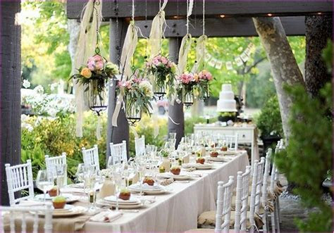 country shabby chic wedding decor