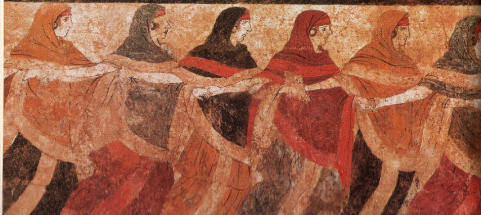 Pintura fúnebre. Museo arqueológico nacional. Nápoles