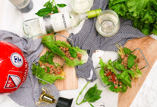 Thai Basil Lettuce Wraps with Trivento Wine and MLS