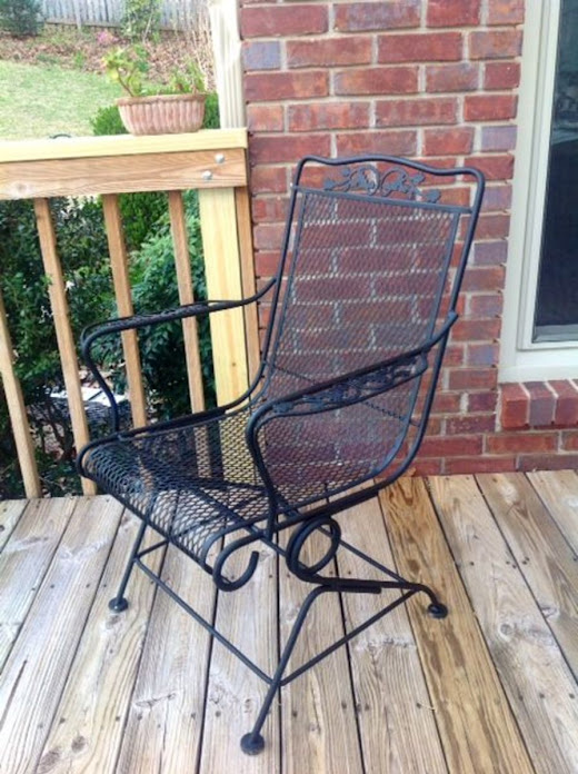 DIY: How to Paint a Wrought Iron Chair