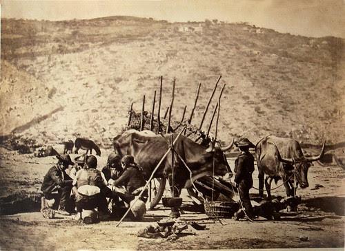 Almuerzo de los carreteros. The Hispanic Society of America. Foto Jean Laurent, 1858-74