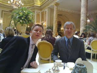 Mike and Neil at The Ritz tea time