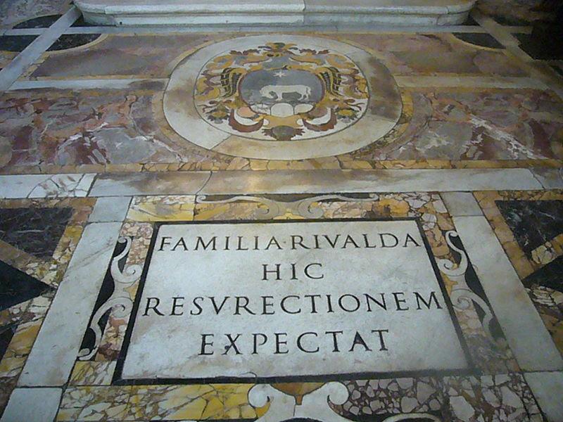 File:S M della Pace - cripta Rivaldi con stemma 1270965.JPG