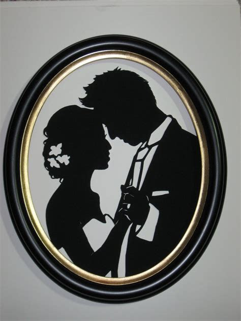 PaperPortraits.com: Custom Wedding Silhouette Scene