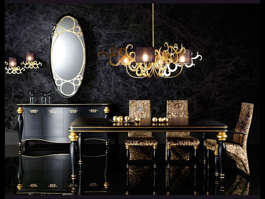 15 Refined Decorating Ideas In Glittering Black And Gold Interior