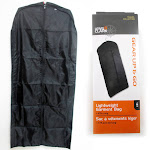 ATB 47 inch Suit Travel Garment Bag Dress Storage Cloth Cover Coat Jacket Carrier Zipper, Black