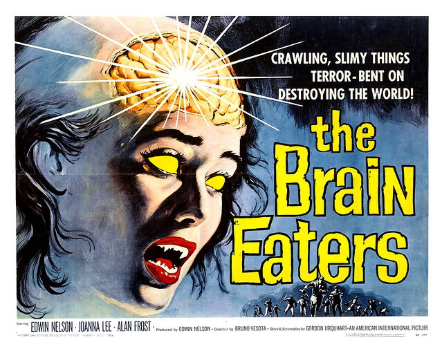 Albert Kallis - The Brain Eaters (American International, 1958) Half Sheet
