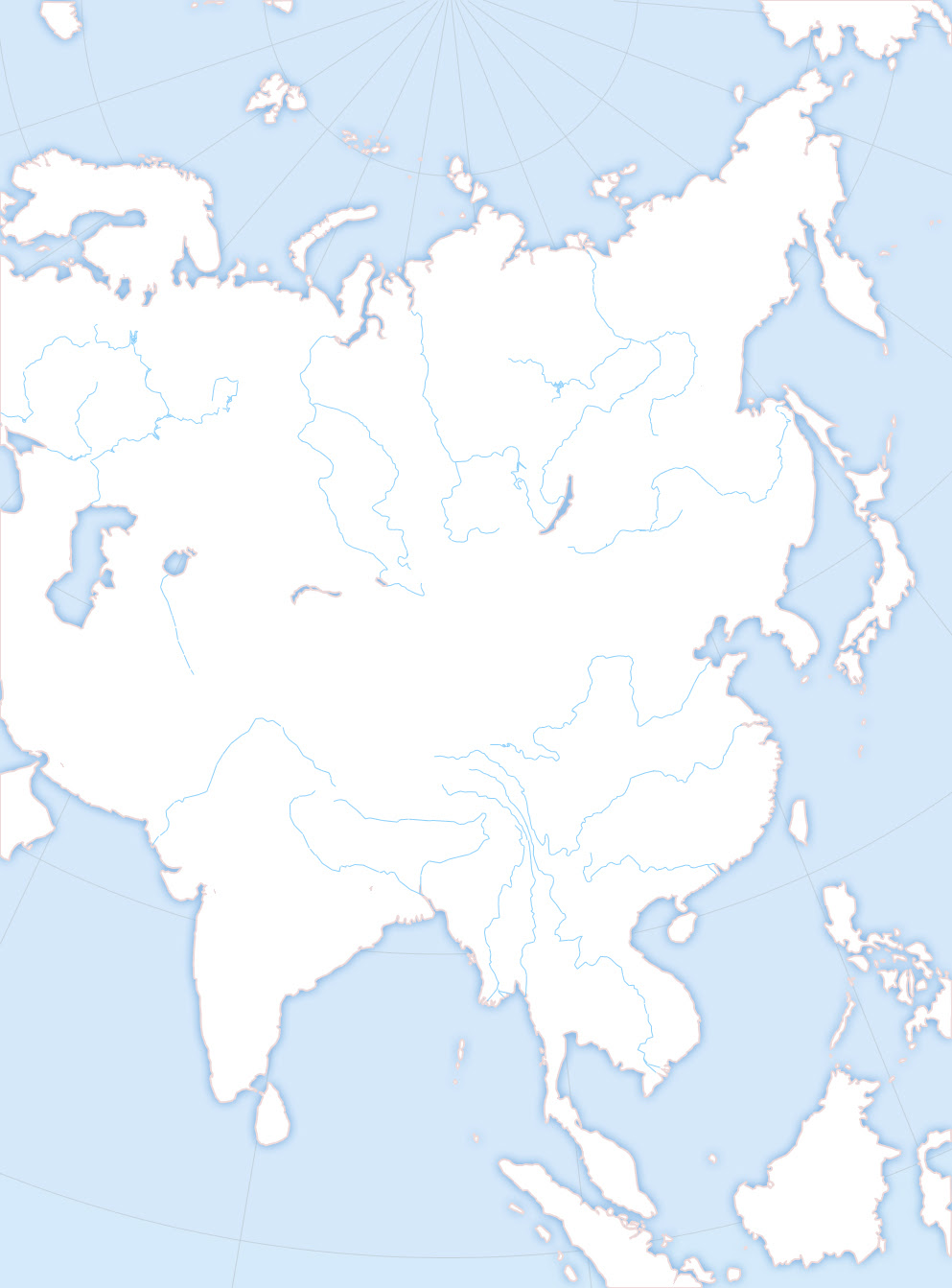 Map Of Europe Blank No Borders.Blank Map Of Asia No Borders